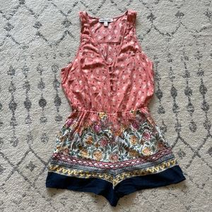 Abercrombie & Fitch Floral Sleeveless Romper